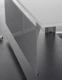 Sichtblende five Metall Lochblech Höhe 40 cm, für Tischbreite 200 cm, Silber