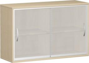 Glasschiebetürenschrank ten, 2 Ordnerh., mit Mittelseite, 120 cm Breite
